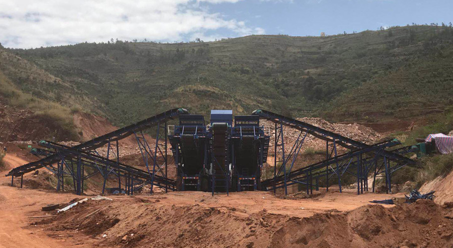 云南石灰石移动式碎石生产线