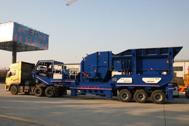 移动破碎站厂家介绍建筑垃圾生产线处理大量的建筑垃圾