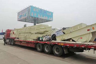 正升重工制砂生产线发往江苏用户现场