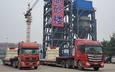 四川广安市复合式制砂机项目